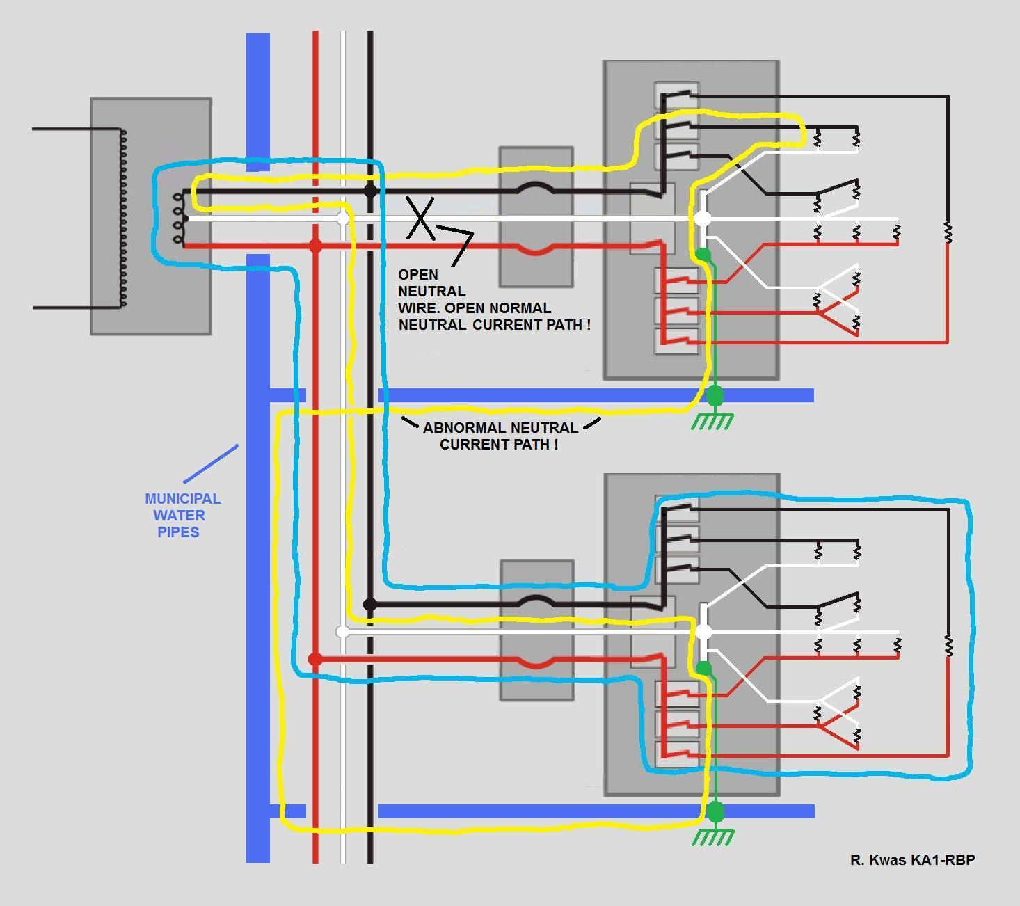 open neutral wiring diagram 27 wiring diagram images
